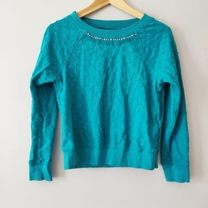 Jessica Simpson Girls Turquoise Sweater with Gems